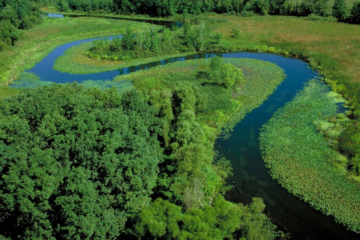 Grassy Creek from the Air