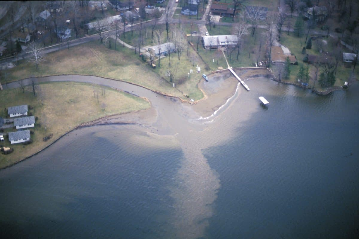 Runoff from Cherry Creek 1989
