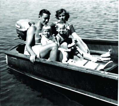 The Coverts in 1953 - Quentin, Mary Janet, Jim and Susie